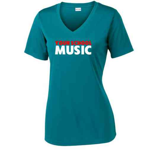 Music Sport Tek Womens V-Neck Competitor T-shirt